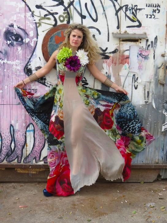 Adi Ashur flower print gown