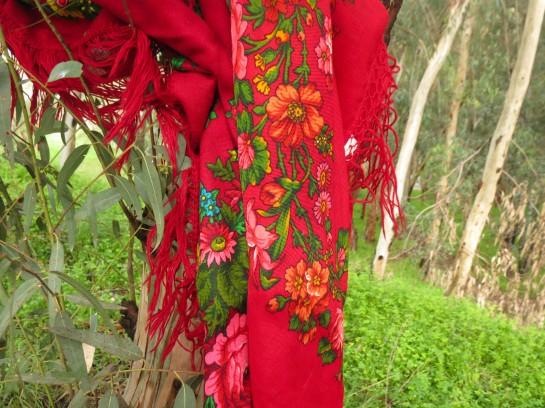 Vintage print scarves