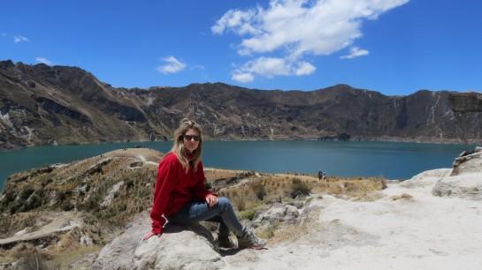Quilotoa Volcano lake