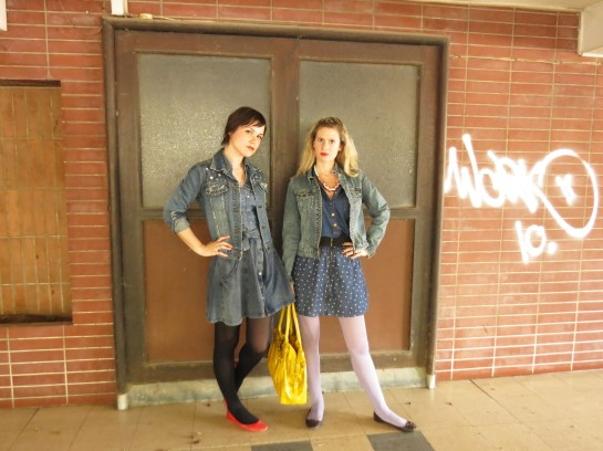 Full on denim outfits