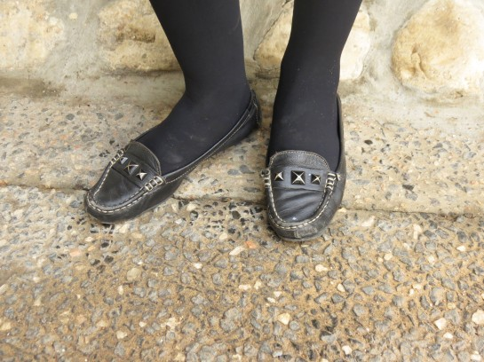Studded moccasins